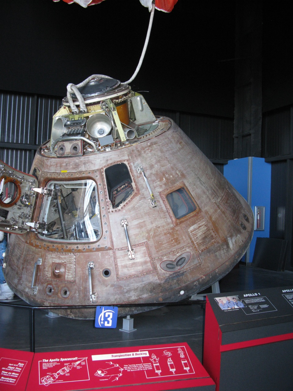inside apollo capsule houston -#main